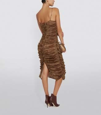 Nicholas Gathered Leopard Print Bodycon Dress