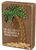 Primitives By Kathy 80 Degrees & Palm Trees String Art