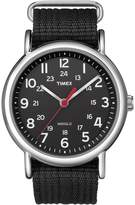 Timex Men's Weekender Black Nylon Slip-Through Strap Watch