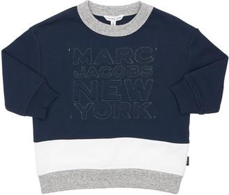 Little Marc Jacobs Skyline Logo Print Cotton Sweatshirt