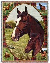 Pure Country Thoroughbred Throw - 70 x 54 Blanket/Throw