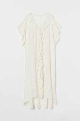 H&M Flounced Kaftan - White