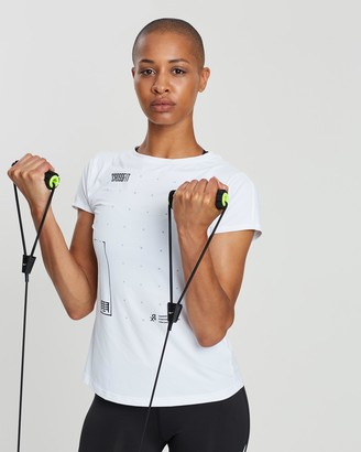 Reebok Performance - Women's White Short Sleeve T-Shirts - CrossFit ACTIVCHILL Tee - Size M at The Iconic