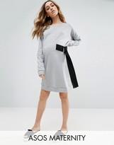 Asos Mini Sweat Dress With D Ring Tie