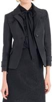 Max Studio Textured Organza Tailored Jacket