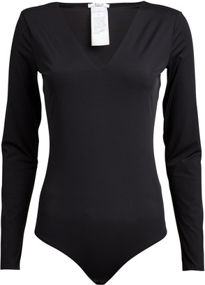 Wolford V-Neck Long Sleeve Bodysuit