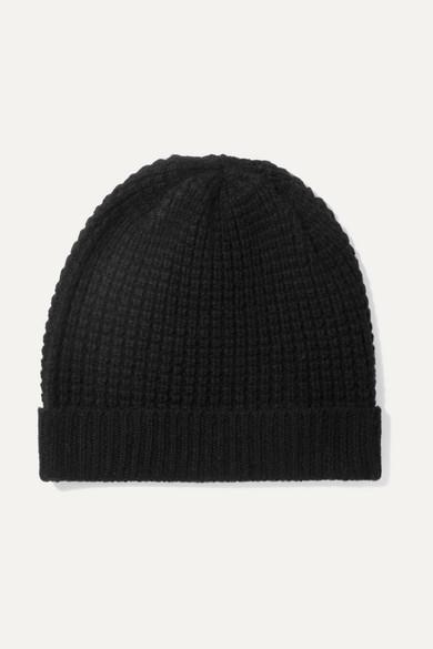 0e53aa82d Holby Waffle-knit Cashmere Beanie - Black