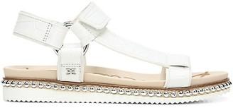 Sam Edelman Annalise Embellished Croc-Embossed Leather Sport Sandals