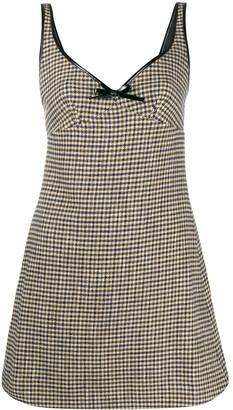 ALEXACHUNG Sleeveless Check Pattern Dress