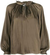 Zadig & Voltaire Theresa gathered detail blouse