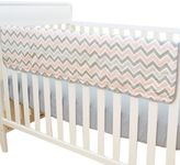 T.L.Care TL Care® Crib Rail Cover in Pink and Grey Zigzag
