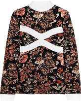 J.W.Anderson Floral intarsia knitted turtleneck sweater