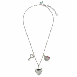 Me To You Love Heart Locket Necklace with Key & Tatty Teddy Crystal Charms