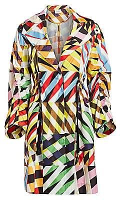 Akris Punto Women's Patchwork Drawstring Rain Coat