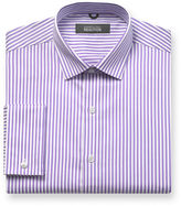 Kenneth Cole Reaction Dress Shirt, Purple and White Stripe Long-Sleeved Shirt
