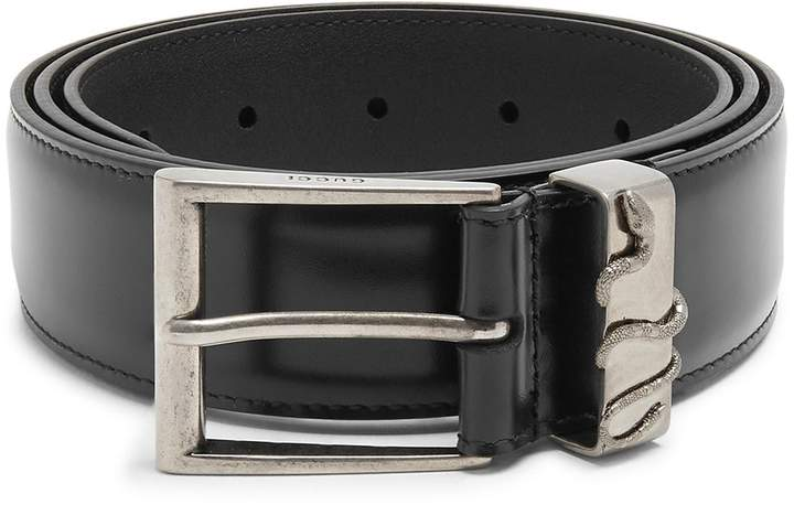 Gucci Snake-embossed leather belt