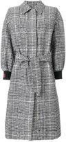 Fendi plaid tailored coat