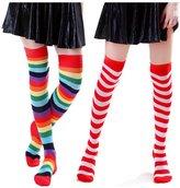 HDE Women's Striped Thigh High Stocking Socks