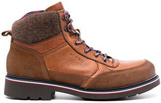 Tommy Hilfiger Chunky Lace-Up Leather Boots