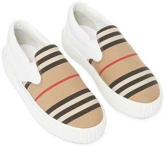 Burberry panelled slip-on sneakers