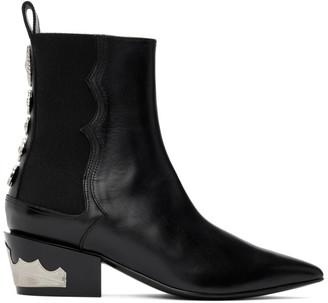 Toga Pulla Black Heel Hardware Boots