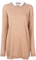 No.21 collar knitted sweater - women - Silk/Acetate/Virgin Wool - 38