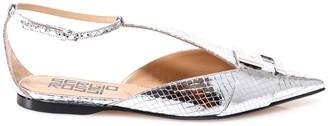 Sergio Rossi Logo Plaque Flat Shoes