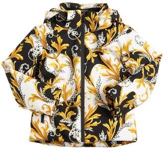 Versace Baroque Print Nylon Ski Jacket