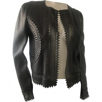 Gianfranco Ferre Brown Leather Jacket for Women