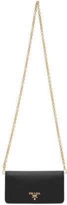 Prada Black Saffiano Chain Wallet Bag