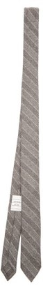 Thom Browne Chalk-stripe Wool-blend Flannel Tie - Grey