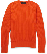 Neil Barrett Ribbed Wool-blend Sweater - Orange