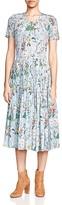 The Kooples Folkloric Print Silk Dress