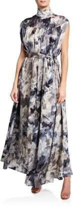 Co Sleeveless Mock Neck Dress