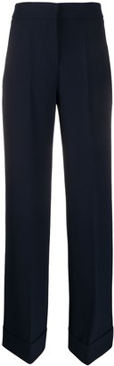 Blanca Vita Wide Leg Turned Up Trousers