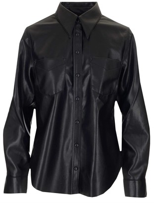 AGOLDE Faux-Leather Shirt