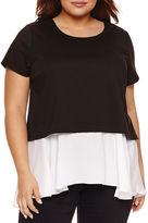 Boutique + + Short Sleeve Scoop Neck T-Shirt-Plus