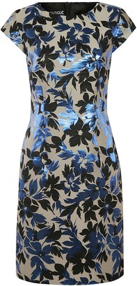 Moschino Floral Print Capped Sleeve Dress