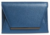 Jessica McClintock 'Ryder' Envelope Clutch - Blue