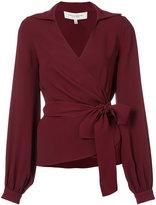 Carolina Herrera side tie collared blouse