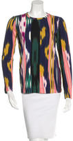M Missoni Ikat Print Long Sleeve Top