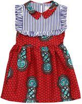 Stella Jean Printed Waxed Cotton Dress