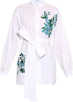 Jonathan Saunders Alex floral-embroidered cotton shirt
