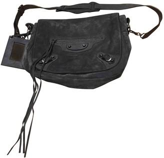 Balenciaga Grey Suede Handbags