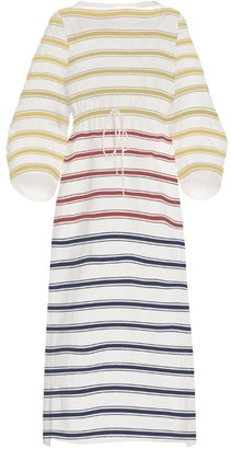 Rosie Assoulin Rainbow Stripe Caftan