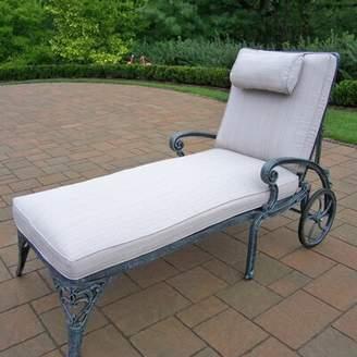 Astoria Grand Mcgrady Reclining Chaise Lounge with Cushion Astoria Grand Color: Verdi Grey