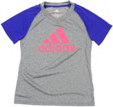 adidas Big Girls Youth Climalite Color Block Raglan Tee