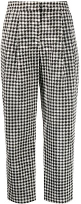 Emporio Armani Cropped Houndstooth Pattern Trousers