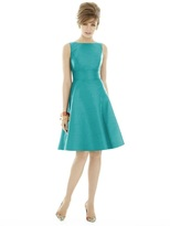 Alfred Sung D681 Bridesmaid Dress in AZURE