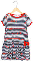 Petit Bateau Girls' Striped A-Line Dress
